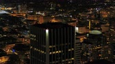 блоки : Portland Aerial v96 Flying around downtown with cityscape views at night 417