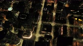 interestadual : Seattle Aerial v89 Vertical birdseye view flying over downtown at night 417 Vídeos