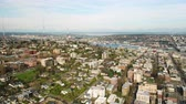 Сиэтл : Seattle Aerial v100 Flying around Queen Anne area with cityscape views 417
