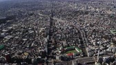government district : Japan Tokyo Aerial v5 Birdseye view flying over Tomigaya area in Shibuya panning