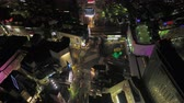 ingázó : Japan Tokyo Aerial v23 Birdseye view flying around famous Shibuya intersection area night 217