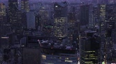 minato : Japan Tokyo Aerial v46 Flying low over downtown Minato area panning cityscape views night 217 Stock Footage