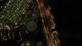minato : Japan Tokyo Aerial v51 Vertical view flying low over highway at night Stock Footage