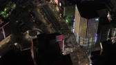 ilham vermek : Japan Tokyo Aerial v76 Birdseye view flying low around famous Shinjuku area night 217