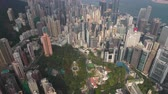 government district : Hong Kong Aerial v56 Birdseye flying over Central District with cityscape views 217 Stock Footage