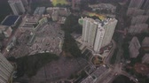 tilted : Hong Kong Aerial v64 Birdseye view flying over Pak Hok Shan area Stock Footage