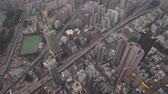 tilted : Hong Kong Aerial v63 Birdseye view flying over Kowloon City area and highways