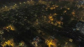 tilted : Hong Kong Aerial v65 Birdseye view flying low over shipyard terminal panning at night 217 Stock Footage