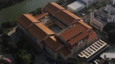 estanho : Hong Kong Aerial v117 Closeup birdseye view flying low around heritage museum