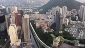 aberdeen : Hong Kong Aerial v150 Flying low over Aberdeen area panning down Stock Footage