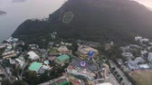 theme : Hong Kong Aerial v155 Birdseye view flying over Ocean Park area panning Stock Footage