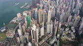 tilted : Hong Kong Aerial v179 Birdseye view flying over Sai Ying Pun area panning Stock Footage