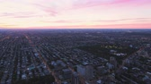 krajobraz : Montreal Quebec Aerial v19 Flying over downtown panning with dusk views Wideo