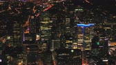 dálnice : Montreal Quebec Aerial v45 Flying across downtown at night with cityscape views