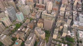 borough : Montreal Quebec Aerial v66 Birdseye view flying over downtown