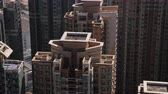 wan : Hong Kong Aerial v205 Closeup birdseye view flying low around condominium complex buildings Stock Footage
