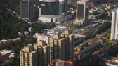 estanho : Hong Kong Aerial v208 Birdseye view flying around Sha Tin Central Park and Town Hall area panning 217 Stock Footage