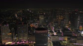 Japan Tokyo Aerial v171 Flying over downtown Shinjuku area with cityscape views night 217 Stock Footage