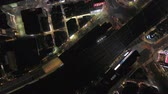 Japan Tokyo Aerial v175 Vertical birdseye view over downtown Shinjuku at night 217