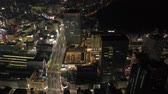 Japan Tokyo Aerial v172 Birdseye flying over downtown Shinjuku area cityscape views night 217