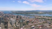 borough : Montreal Quebec Aerial v129 Flying over downtown with cityscape views 717