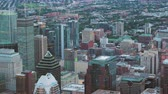 borough : Montreal Quebec Aerial v140 Birdseye view flying low over downtown panning up cityscape 717 Stock Footage