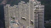 Hong Kong Aerial v48 Flying around highrise apartments in Cyberpoint area cineflex look. Stock Footage