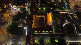 Huayin China Aerial Time Lapse Night v1 Flying vertically over bright main street.
