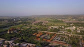 mavic : China Huayin Aerial v5 Flying low besides temple shrine with city views 517