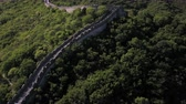 badaling : China Great Wall Aerial v1 Flying low besides famous structure 517