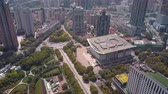 mavic : China Shanghai Aerial v20 Birdseye flying over Peoples Square with cityscape views 517 Stock Footage