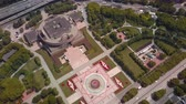 government district : China Shanghai Aerial v21 Birdseye view flying over Peoples Square 517
