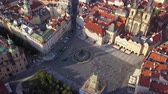 mavic : Czech Republic Prague Aerial v3 Birdseye flying low around Old Town Square sunset 817