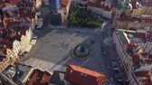 prag : Czech Republic Prague Aerial v4 Birdseye flying low around Old Town Square sunset 817