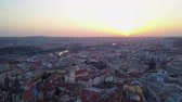 mavic : Czech Republic Prague Aerial v12 Flying low around Old Town area cityscape views sunrise 817