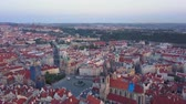 mavic : Czech Republic Prague Aerial v13 Flying low around Old Town Square area cityscape views sunrise 817