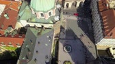терракота : Czech Republic Prague Aerial v20 Vertical view flying low over Charles Bridge and Old Town 817