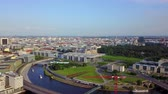 mavic : Germany Berlin Aerial v18 Flying low around Central Station area with cityscape views 817 Stock Footage