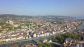 mavic : Switzerland Zurich Aerial v3 Flying low around District 1 area cityscape views 817