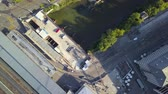 mavic : Switzerland Zurich Aerial v8 Vertical view flying low over main station area 817 Stock Footage