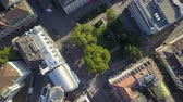 mavic : Switzerland Zurich Aerial v9 Vertical view flying low over downtown 817 Stock Footage