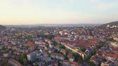 mavic : Switzerland Zurich Aerial v15 Flying low around downtown area cityscape views sunset 817