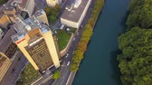 mavic : Switzerland Zurich Aerial v18 Birdseye view flying low over Limmat River area 817