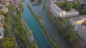 mavic : Switzerland Zurich Aerial v20 Birdseye view flying low over Limmat and Sihl River area 817