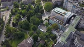 mavic : Switzerland Zurich Aerial v25 Birdseye view flying low around University Hospital and park 817