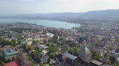 mavic : Switzerland Zurich Aerial v26 Flying low around University buildings and campus cityscape views 817