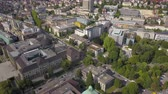 mavic : Switzerland Zurich Aerial v30 Birdseye flying low around University buildings and campus 817