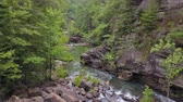 mavic : Tallulah Gorge Aerial v1 Flying low over and down river in gorge