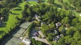 connector : Atlanta Aerial v343 Birdseye flying low over Ansley Golf Course sunny 1117 Stock Footage