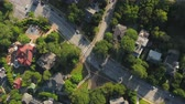 Грузия : Atlanta Aerial v345 Vertical view flying low over Ansley neighborhood and Midtown area sunny 1117